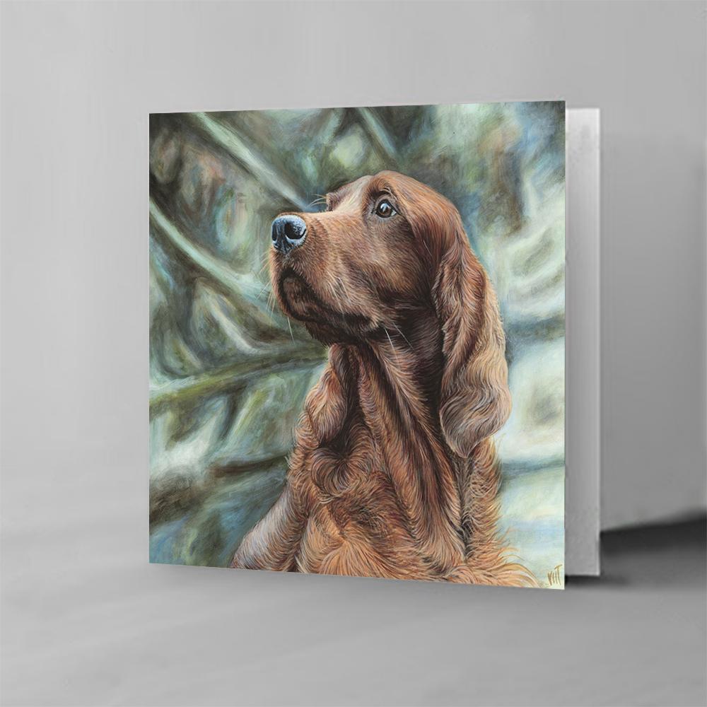 Blank Inside * English Setter* Hand Made DOG GREETINGS CARD